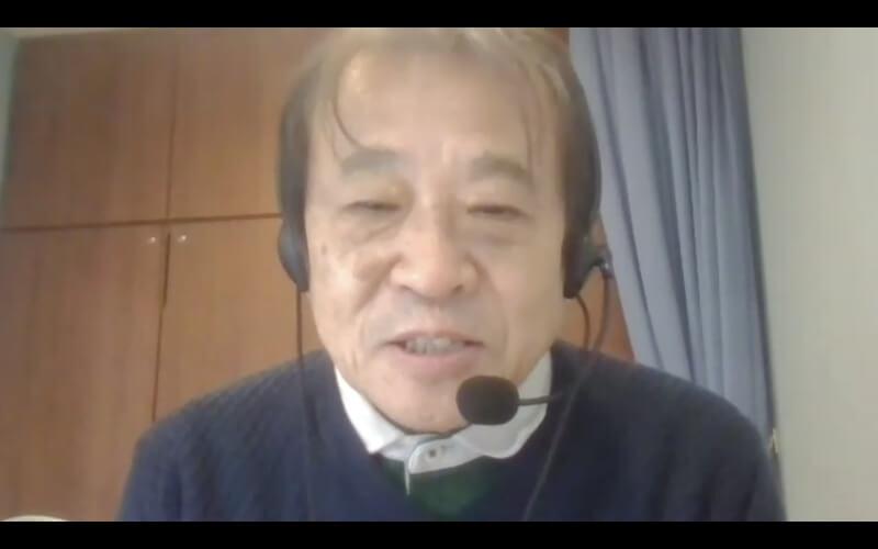 『社会福祉法人 種の会』理事長の片山喜章先生(Zoom取材中の様子)